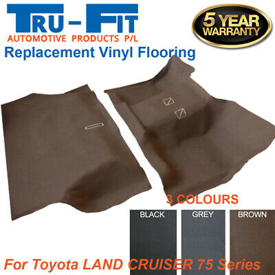 AU219 • Buy Suits Toyota Land Cruiser 75 Series Moulded Rubber Vinyl Front & Rear Flooring