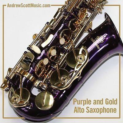 AU600 • Buy Purple Alto Saxophone, New In Case - Suitable For Both Professionals & Students