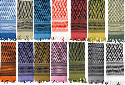 $10.99 • Buy Military Shemagh Confortable Arab Tactical Desert Keffiyeh Scarf 100% Cotton