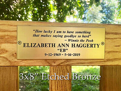 Etched Metal Plaque Custom Order Personalized • 149.67£