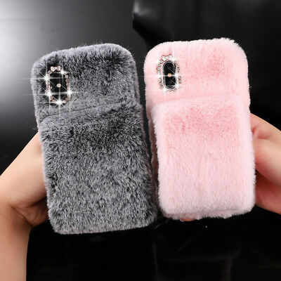 Faux Fur Warm Glove Case For IPhone XS Max 8 7 XR Fluffy Shockproof Comfy Cover • 5.69£
