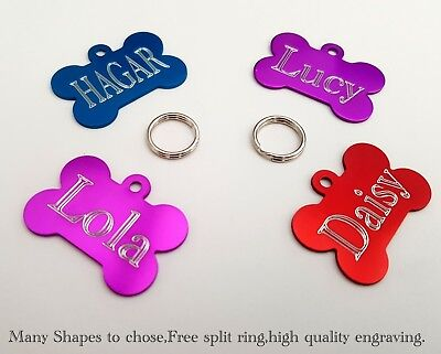 £3.29 • Buy PET ID TAGS DOG Puppy CAT Kitten Address/Name Disc ENGRAVED PERSONALISED !