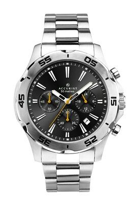 Accurist Mens Chronograph Watch With Black Dial 7257 • 47.99£