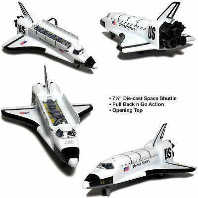 7.5  Space Shuttle US NASA Replica Diecast Model Toy Pull Action Rocket Ship • 7.95£