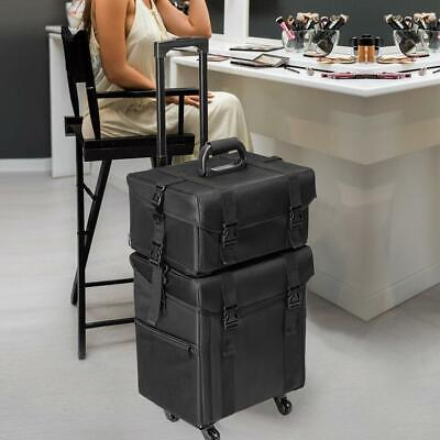 $99.99 • Buy Professional Rolling Makeup Case Cosmetic Artist Salon Oxford Train Bag W/Drawer