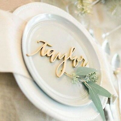 AU2.50 • Buy MDF Seating Place Card Name Custom Word Wedding Events Table Seating Wood Names