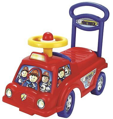 Push Along Smart Ride Fire Engine Truck Walker Toy With Under Seat Storage  • 15.90£