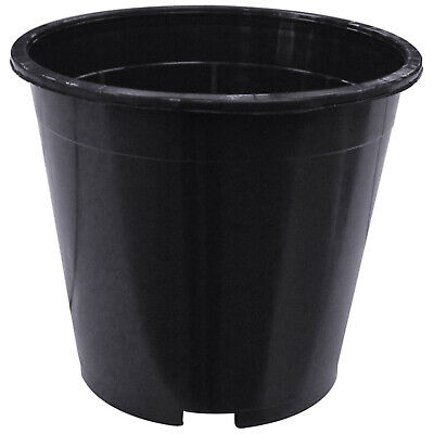 £8.63 • Buy Hydroponic Round Strong Plastic Plant Pots Small Tall Deep Full Flower Garden UK