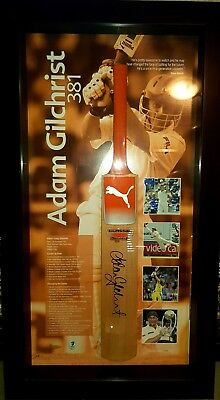AU750 • Buy Cricket Australia Adam 'Gilly' Gilchrist 381 Bat Framed, Signed