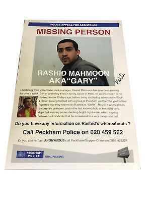 £14.99 • Buy Only Fools And Horses GARY Missing Person Poster Hand Signed By Nabil A3