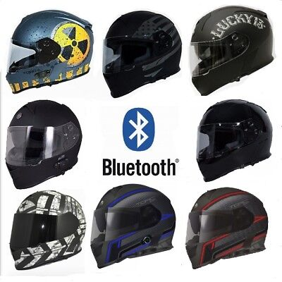 643cfc45 Torc T14B Mako Helmet Motorcycle DOT With Built In Bluetooth • 199.99$