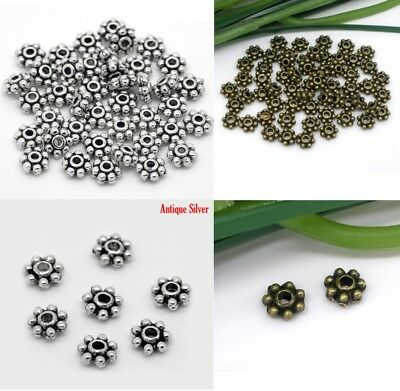 £1.99 • Buy 4mm Antique Daisy Spacers Metal Beads Tone Crimps Jewellery Making Findings