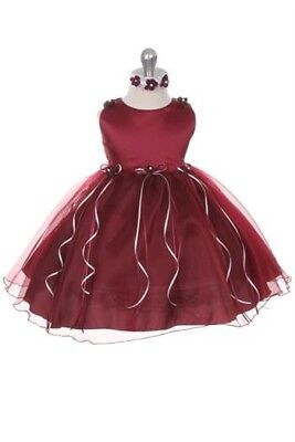 £12.99 • Buy Baby Girl Occasion Wear Dress - 12months - Party, Christening, Wedding Outfit