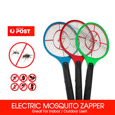 AU8.99 • Buy 1/2/3X Electronic Fly Swatter Mosquito Bug Insect Kill Zapper Racket RANDOM COLO
