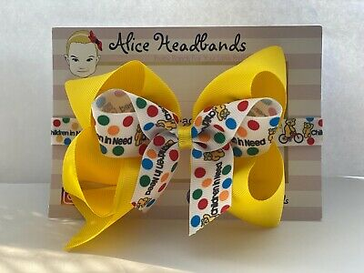 £2.50 • Buy Children In Need Pudsey Bear Hair Accessories Clip Or Soft Headband