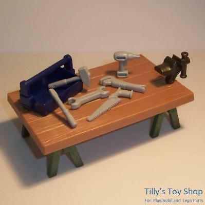 £6 • Buy Playmobil   Work Bench/TrestleTable With Vice & Tool Set - Citylife Sets  -  NEW