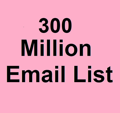 $7.19 • Buy 300 Million Email List For Marketing And Business - Instant Email Delivery