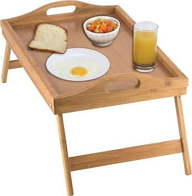 $19.99 • Buy Bed Tray Table With Folding Legs, And Breakfast Tray Bamboo Table And Bed Tray