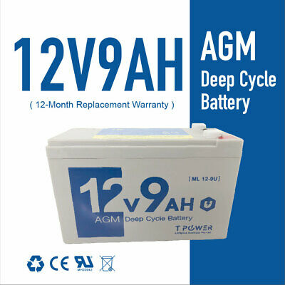 AU26.99 • Buy NEW 12V 9AH SLA AGM Deep Cycle Battery Same Size As 12V 7ah/7.2ah 4 NBN Longer