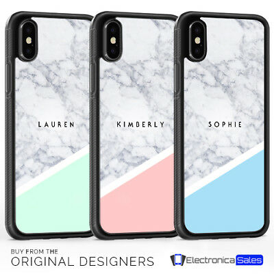 AU7.36 • Buy Personalised Marble Name Custom Initials Phone Case For IPhone 11 Pro Max X XS 8