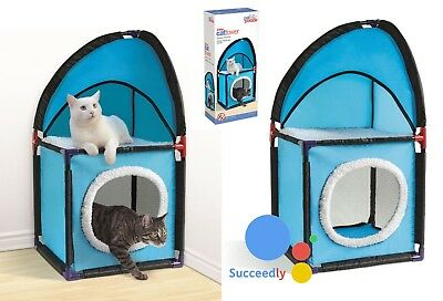 Cat Tower Tree Post Scratching Activity Climbing Kitten Centre Toy Play House • 13.50£