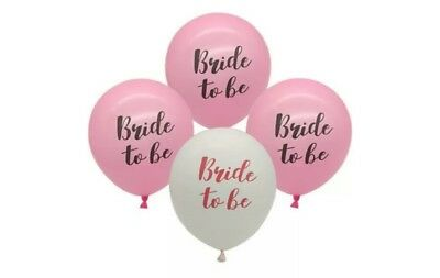 AU8.95 • Buy Bride To Be Pink Or White Balloons Hen's Party Bachelorette Favours Decoration