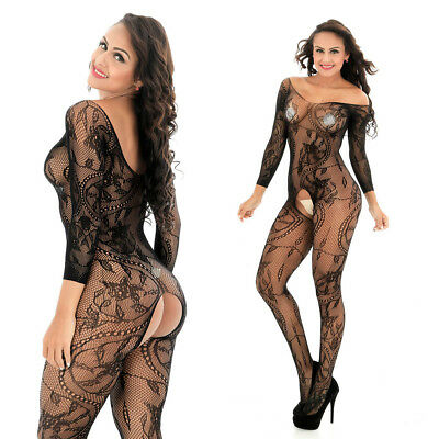 $8.99 • Buy Cozy Feel Fishnet Mesh Body Stocking Bodysuit Nightwear Lingerie Dress Style 606