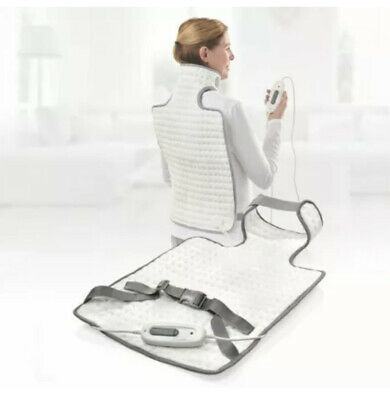 NEW Sanitas Back And Neck Heating Soft And Cosy Heating Pad Pad Rapid Heat-up • 27.99£