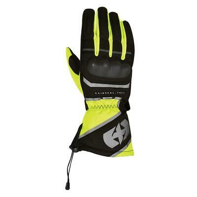Oxford Montreal Waterproof Thermal Motorcycle Scooter Gloves Black Yellow New • 49.99£