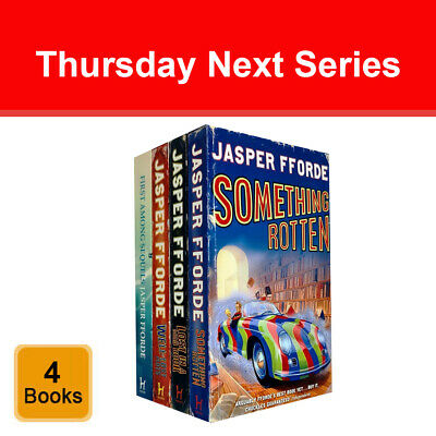 Jasper Fforde Thursday Next Series 4 Books Collection Set Something Rotten NEW • 14.99£