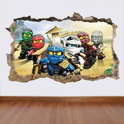 LEGO NINJAGO Hole In The Wall View - Art Decal - Wall Art Sticker Mural Feature • 5.99£