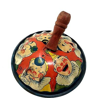 $ CDN34.71 • Buy Vintage New Year Halloween Noisemaker Tin Wood Clowns Party T Cohn Lithographed
