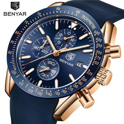 $ CDN32.12 • Buy BENYAR Men's Military Watch Date Silicone Band Army Sport Quartz Wristwatch