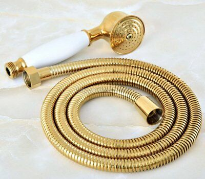 £22.99 • Buy Gold Color Brass Bath Telephone Style Hand Held Shower Head Shower Hose Yhh045