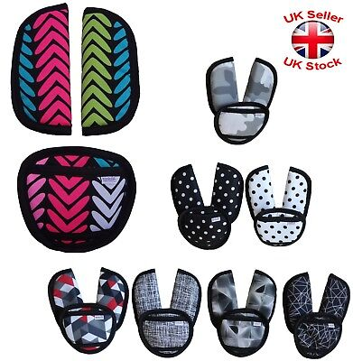 Baby Car Seat And Pushchair Belts Crotch Cover Harness Straps Pads Designs 3pcs • 5.09£