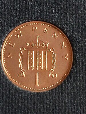 OLD RARE 1p One Pence Coin Minted With The New Penny Wording  1971 • 100£