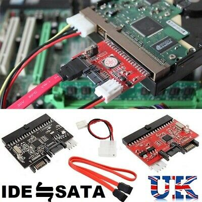 £4.99 • Buy IDE 100/133 HDD CD DVD TO SATA Converter Adapter, SATA CABLE AND POWER CONNECTOR