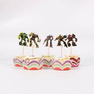 12 X TRANSFORMERS Cupcake Pick Toppers • 2.49£