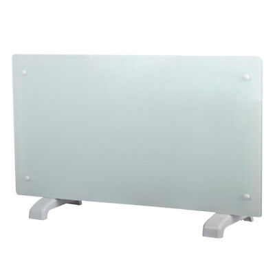 £54.99 • Buy Panel Heater Radiator Electric Glass White Portable Free Standing Wall Mounted