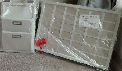 $129.99 • Buy Pottery Barn Bedford Daily System White Pin Board Letter Bin Rods NEW