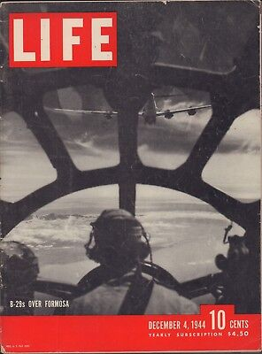 $ CDN13.35 • Buy LIFE December 4,1944 B29's Over Formosa / US Carrier Airplane Fire / The Rhine