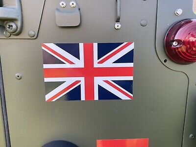 Army Land Rover Wolf Union Jack Flag Stickers Std X2 Military Vehicles Defender • 3.79£