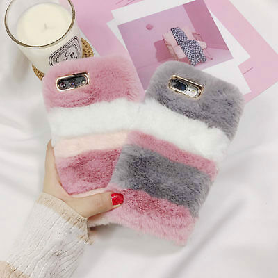 Girls Soft Warm Plush Fluffy Phone Case Cover Comfy Faux Fur For Samsung IPhone • 6.99£