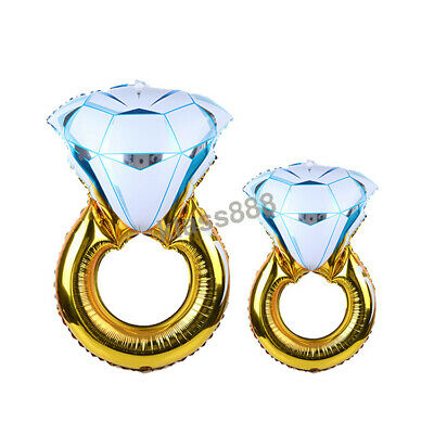 AU4.91 • Buy Large 3D Diamond Ring Foil Balloon For Engagement Wedding Theme Party Decoration