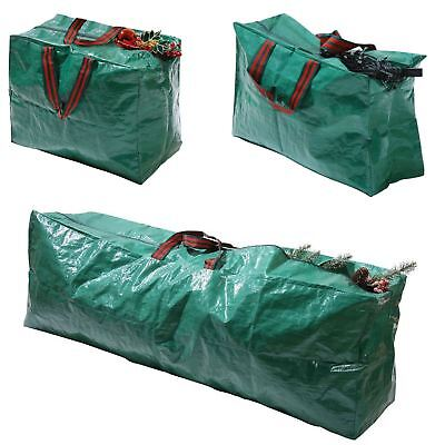 New Christmas Xmas Storage Zip Bag For Tree, Decorations & Lights - With Handles • 5.95£