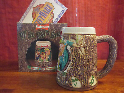$ CDN33.33 • Buy Budweiser St Patrick Day Luck Of The Longneck Stein 1997 CS287  Box And COA
