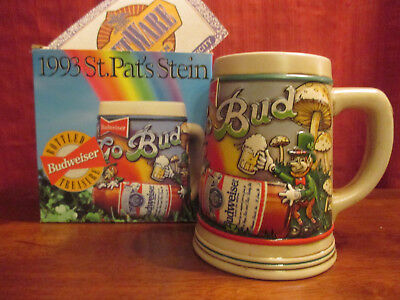 $ CDN46.67 • Buy Budweiser St Patrick Day's Bottled Treasure Stein CS193 Box And COA