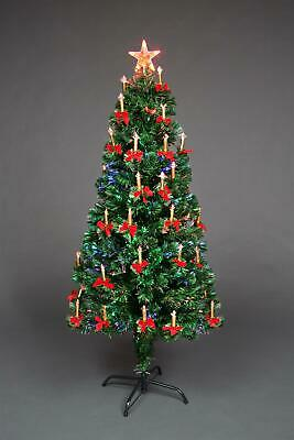 £36.89 • Buy Pre Lit Christmas Tree Fiber Optic Lights Xmas Home Decorations Candle Bow 2-6FT