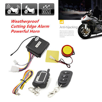 $37.99 • Buy For Motorcycle 2-Way Security Alarm System Anti-theft Remote Electrical Starter