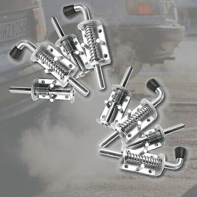 AU28.36 • Buy 8x SPRING BOLT LATCH CATCH ZINC PLATED TRAILER TRUCK UTE FLOAT RAILING TAIL GATE